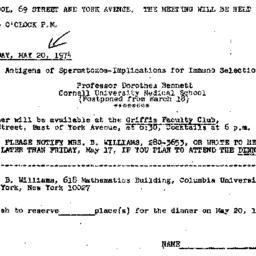 Announcements, 1974-05-20. ...