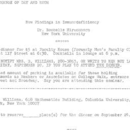 Announcements, 1974-09-24. ...