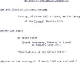 Announcements, 1961-03-28. ...