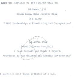 Announcements, 1962-03-28. ...