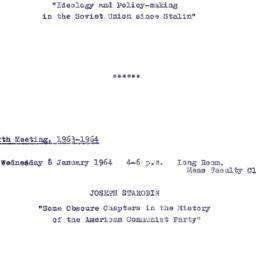 Announcements, 1963-12-11. ...