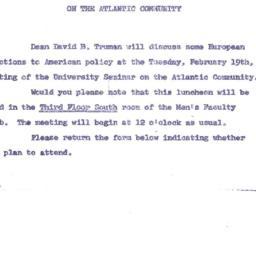 Announcements, 1963-01-29. ...