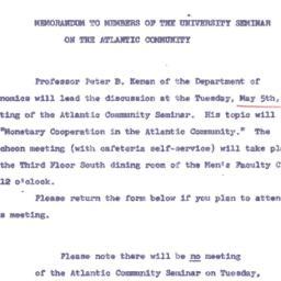 Announcements, 1964-04-15. ...