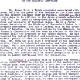 Announcements, 1963-09-19. ...