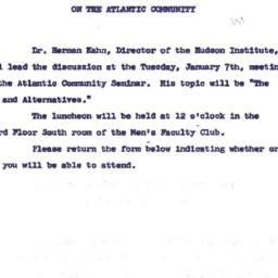 Announcements, 1963-12-17. ...