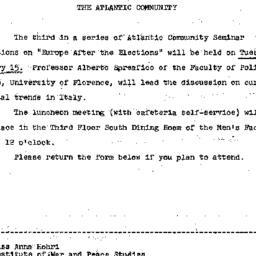 Announcements, 1966-01-01. ...
