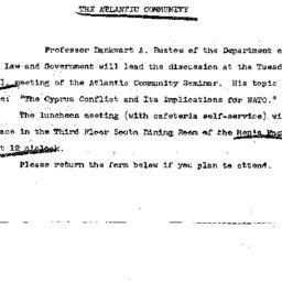 Announcements, 1966-02-16. ...