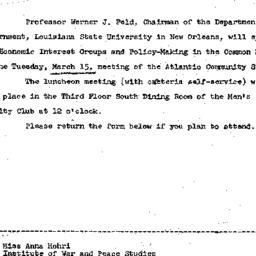 Announcements, 1966-03-01. ...