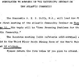Announcements, 1965-09-27. ...