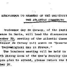 Announcements, 1967-11-16. ...