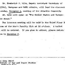 Announcements, 1968-11-20. ...