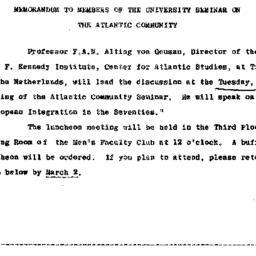 Announcements, 1970-02-20. ...