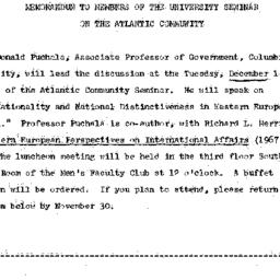 Announcements, 1970-11-18. ...