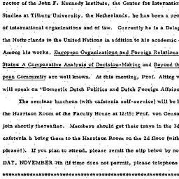 Announcements, 1975-11-11. ...