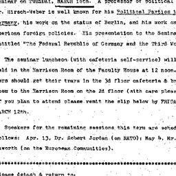 Announcements, 1976-03-16. ...