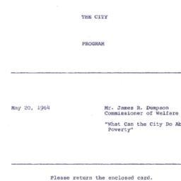 Announcements, 1964-05-20. ...