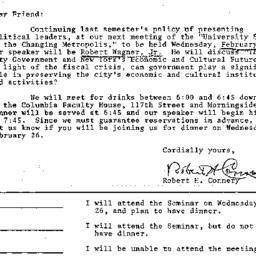 Announcements, 1975-02-05. ...
