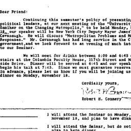 Announcements, 1974-10-30. ...