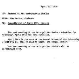 Announcements, 1978-04-12. ...