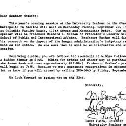 Announcements, 1982-09-07. ...