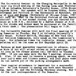 Announcements, 1988-04-20. ...