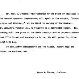 Announcements, 1963-03-14. ...