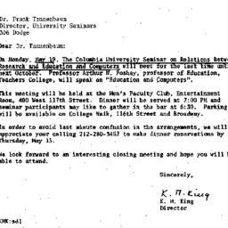 Correspondence, 1969-05-08....