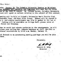 Correspondence, 1970-01-07....