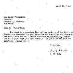 Correspondence, 1970-04-10....