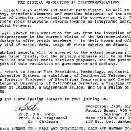 Announcements, 1985-05-04. ...