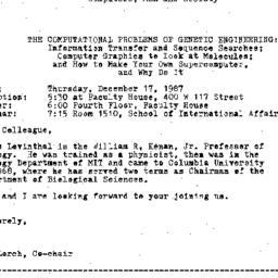 Announcements, 1987-12-17. ...