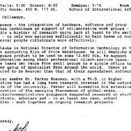 Announcements, 1990-03-15. ...