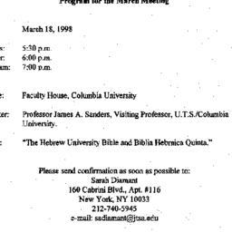 Announcements, 1998-03-18. ...