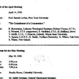Announcements, 1999-05-19. ...