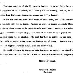 Announcements, 1964-05-08. ...