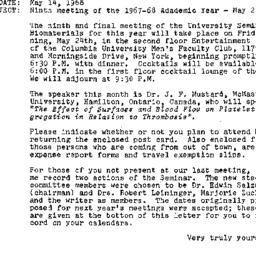 Announcements, 1968-05-14. ...