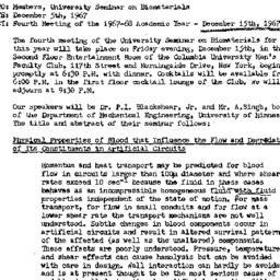 Announcements, 1967-12-05. ...