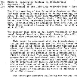 Announcements, 1968-09-18. ...
