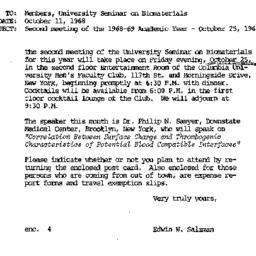 Announcements, 1968-10-11. ...