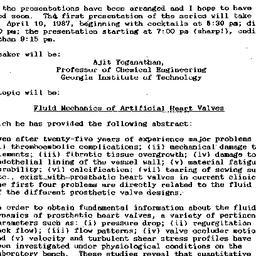 Announcements, 1987-04-01. ...