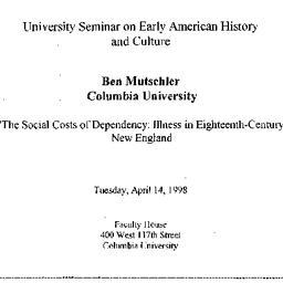 Announcements, 1998-04-14. ...
