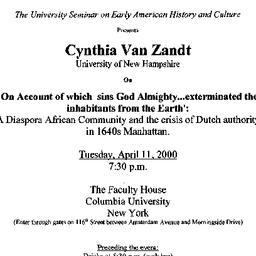 Announcements, 2000-04-11. ...
