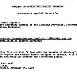 Announcements, 1970-02-25. ...