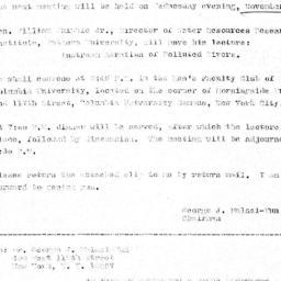 Announcements, 1969-10-20. ...