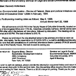 Announcements, 1998-04-08. ...