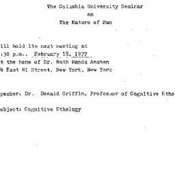 Announcements, 1977-02-18. ...