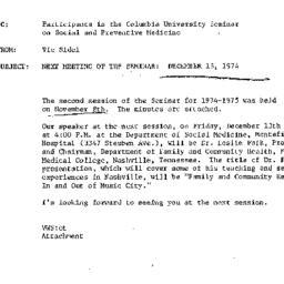 Announcements, 1974-11-19. ...