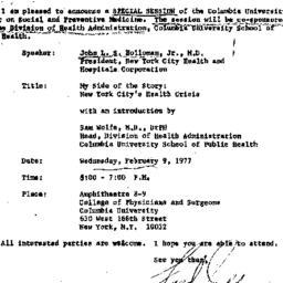 Announcements, 1977-01-31. ...