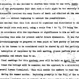 Minutes, 1971-03-03. Death,...
