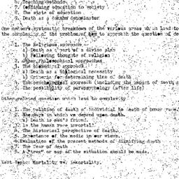 Minutes, 1973-11-07. Death,...